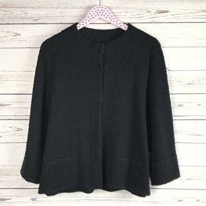 Eileen Fisher Black Sweater Jacket